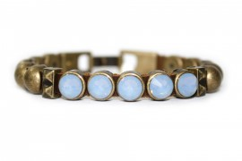 ID Antique Gold Crystal Air Blue Opal