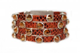 Rockstar Molten Bracelet Last Call Spice Leather