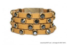 Rockstar Antique Gold Crystal Desert Bezel