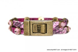 Rock Antique Gold Raspberry Leather Last Call