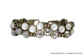 Vice Antique Gold Crystal Braclet Frosted Pearl Shade