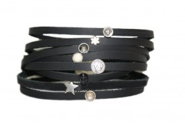 Chokers Black Leather Strap Necklaces