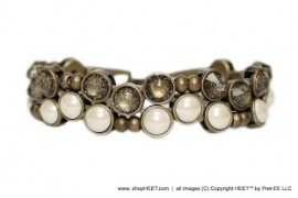 Vice Antique Gold Ivory Pearl Unfoiled